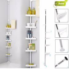 Telescopic Shower Corner Shelves Stainless Steel Bathroom Corner Shelf 100Pcs Plastic Shelves Plate 76