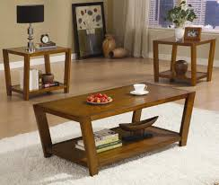 Three Piece Living Room Table Set Coaster Occasional Table Sets Contemporary Cocktail And End Table
