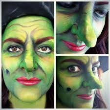 green witch makeup facepaint inspired by the wizard of oz by mua jasmin johnston