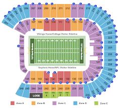Tcf Bank Stadium Tickets Minneapolis Mn Ticketsmarter
