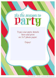 Create Your Own Christmas Invitation Free Good Xmas Party