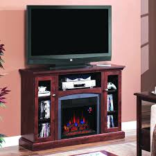 elegant cherry wood mantel with sauder tv stand design for best electric fireplace inserts logs