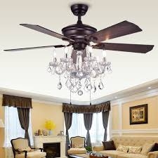attractive chandelier ceiling fan in unusual design ideas with dining room crystal