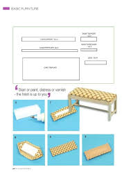 miniature furniture tutorials. tutorial miniature bench furniture tutorials