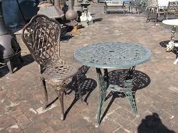 antique cast iron patio set table