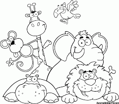 Cute Baby Jungle Animal Coloring Pages Pictures Kleurplaten Dieren