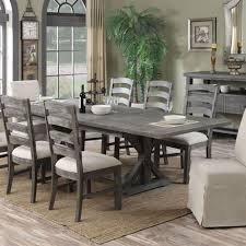 Paladin Wood Rectangular Dining Table In Charcoal  Humble Abode