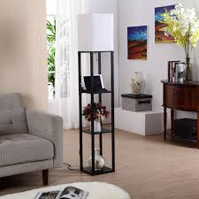 floor lighting for living room. Amazon.com: Brightech \u2013 Maxwell USB Shelf Floor Lamp Mood Lighting For Your Living Room And Bedroom Shade Diffused Light Source With Open-Box Shelves .