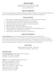 Dental Assistant Resume Dental Assistant Resume Template And