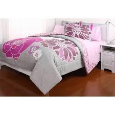 girl full size bedding sets leah reversible bed in a bag bedding set walmart com