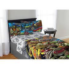 teenage mutant ninja turtle cross hatching bedding sheet set twin full com