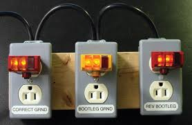 "failures in outlet testing exposed a 3 light ""cube"" tester is unable to detect a reverse polarity bootleg ground outlet"