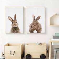 qiumeixia1 Bunny Rabbit Tail Canvas Painting ... - Amazon.com
