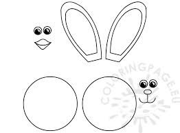 Easter Templates Easter Bunny Easter Chick Templates Cutout Coloring Page