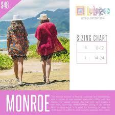 Lularoe Monroe Size Chart Lularoe Monroe Kimono Fringe Discontinued Lularoe Get Them