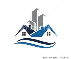 Home And Building Business Property Logo Template Stock