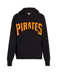 gucci pittsburgh pirates cotton hooded sweatshirt