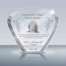 teacher coach gift goodcount awards custom engraved crystal awards plaques