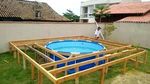 diy above ground pool deck walk in steps for above ground pool e ideas swimming with