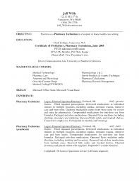 Retail Pharmacy Technician Resume Sample Job And Template Motorcycle
