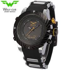 mens watches usa online mens watches usa for usa luxury brand wolf cub sport watch men relogio masculino 3d design silicone band led digital black quartz mens watches