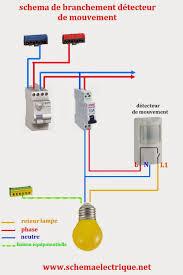 Delightful  Schéma Electrique Simple Détecteur De Mouvement   Schéma Electrique  Détecteur Avec Interrupteur   Branchement Et Câblage D.