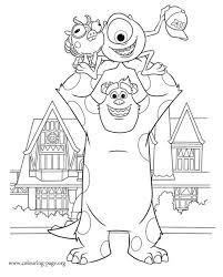Small Picture Monsters University Mike and Sulley catch Archie coloring page