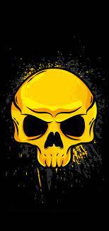 gold skull iphone 11 pro max wallpaper