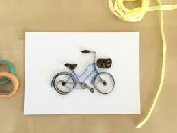 Quilling Home Decor Quilling Paper Blue Bicycle Home Decor Vintage Blue Bike