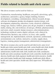 Best Health Unit Coordinator Job Description Resume Gallery