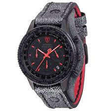 detomaso firenze retro mens watch chronograph black red wide image is loading detomaso firenze retro mens watch chronograph black red