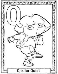 Dora Quiet Alphabet S0227 Coloring Pages Printable