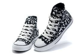 converse shoes high tops. black skull and hearts paint high top canvas shoes,converse sale shoes grey,clearance converse tops h