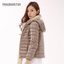 ultra light women winter fashion 90 white duck down jacket casual loose slim plus size