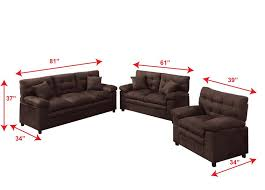 Living Room Brown Couch Adorable Amazon Poundex Bobkona Colona Mircosuede 48 Piece Sofa And