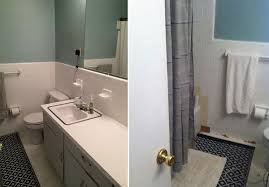 cheap bathroom makeover. Fabulous Easy Bathroom Makeovers With A Simple Inexpensive Makeover For Renters Cheap