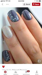 Blue And Silver Toe Nail Designs Blue And Silver Nails In 2019 Nail Designs Nails Pretty