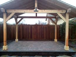 wooden structure over patio outdoor wood structures dominion landscape eugene springfield or