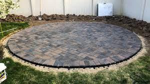 how to build a round paver patio you