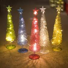 Cone Shaped Christmas Tree Lights Us 8 31 35 Off Christmas Decorations Glow In The Dark Christmas Tree Shape Ornament Innovative Winding Lights Metal Decorations In Figurines
