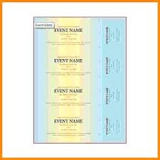 Microsoft Word Ticket Templates Word Ticket Template Numbered Raffle 2 Skincense Co