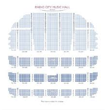 Radio City Christmas Show Seating Chart Christmas Show At Radio Music City Hall New York