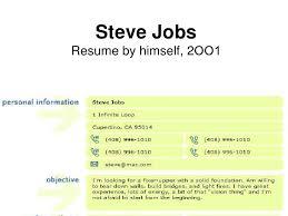 Steve JobsResume by himself, ...
