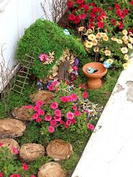 Spring Time Outdoor Fairy Garden Ideas