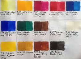 Matisse Colour Chart Acrylics Derivan Matisse Flow Acrylics Review Artdragon86