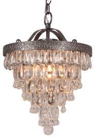 bardolino round glass drop chandelier