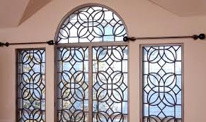 faux iron window inserts wrought for arched windows
