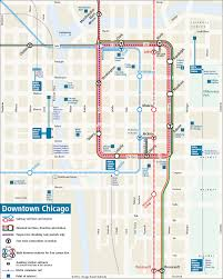 downtown chicago rail transit map