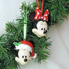 Disney Weihnachts Ornament 2tlg Set Mickey Minnie Mouse