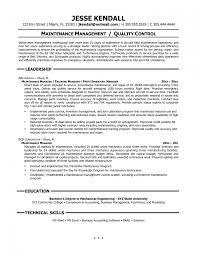 Diesel Mechanic Cover Letter The Maintenance Manager Resume